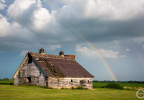 Rainbow after storm – Warren County, Iowa