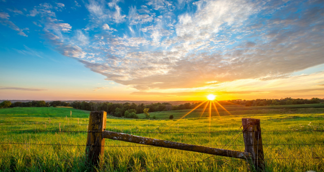 Fencepost Valley sunset – Madison County, Iowa
